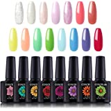 Coscelia 15PC Gel Nail Polish Set- Soak Off LED UV Gel Glossy Shining Effect DIY Manicure Gift, 10ML 0.33 fl.oz Each…