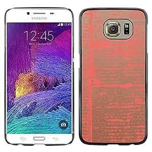 TopCaseStore / la caja del caucho duro de la cubierta de protección de la piel - Pink Abstract Paper Pattern Vibrant Colors - Samsung Galaxy S6 SM-G920
