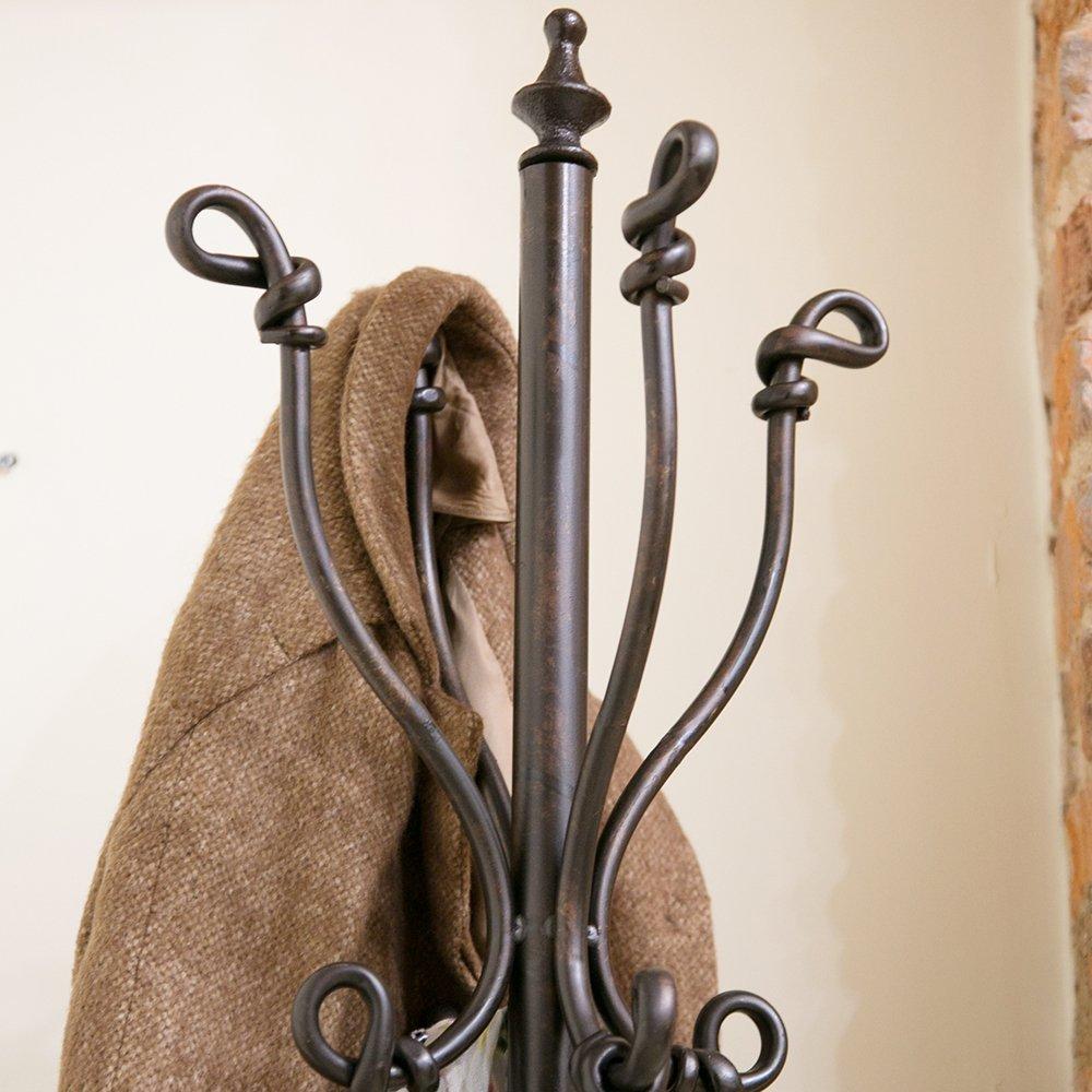Bronce Antiguo Decorativo Hierro Abrigo y Paraguas Soporte ...