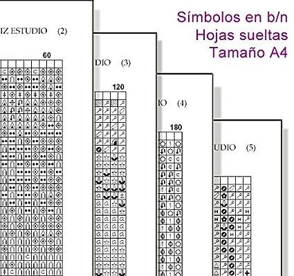 Esquema, gráfico, patrón punto de cruz en papel. (Hojas sueltas tamaño A4.): Amazon.es: Hogar