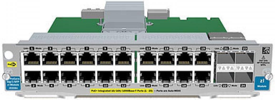 HP J9536A 20-Port Gig-T PoE+ v2 zl Module - J9536-61001