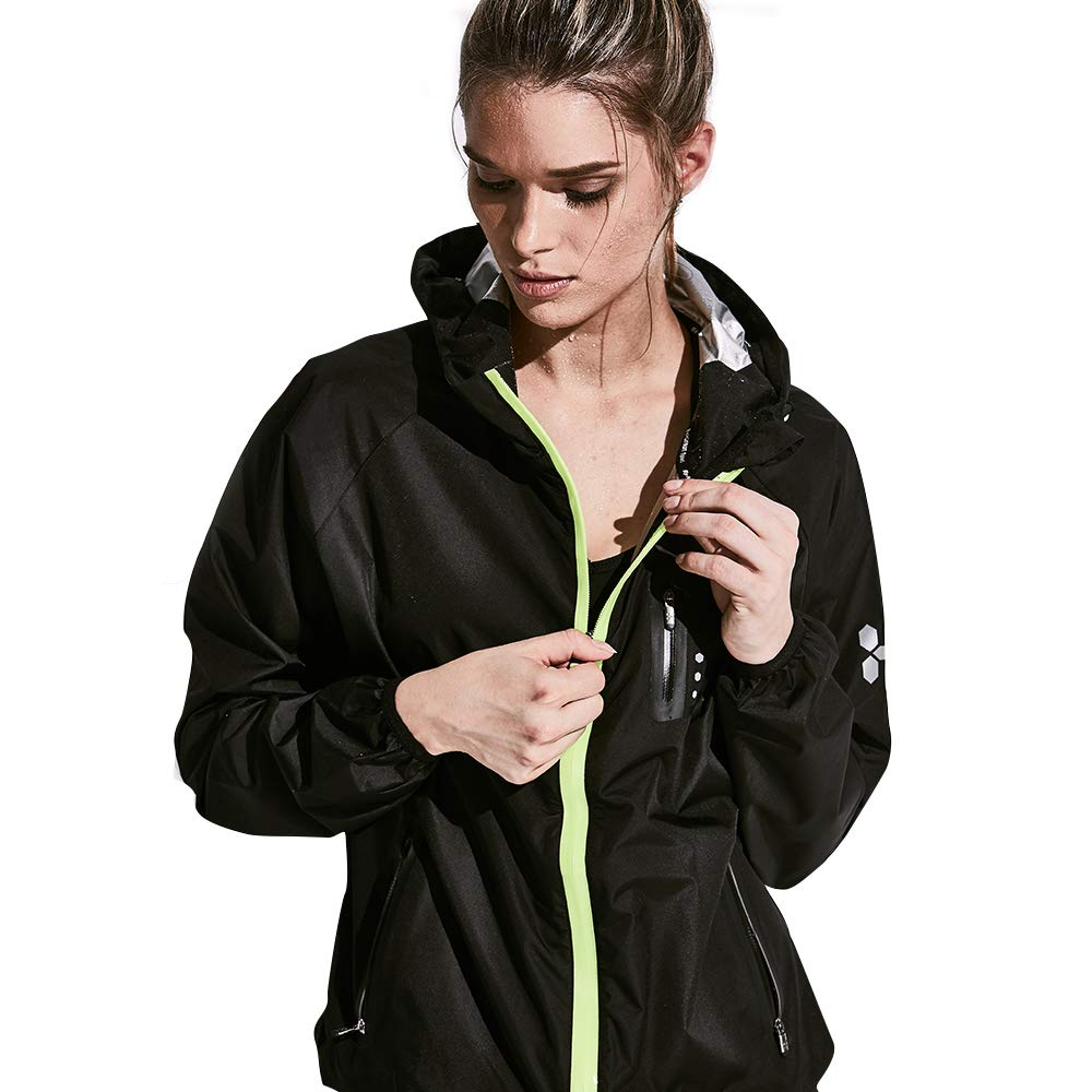 HOTSUIT Sauna Suit Weight Loss for Women Slim Fitness Clothes (Black,XX-Large) by HOTSUIT (Image #1)