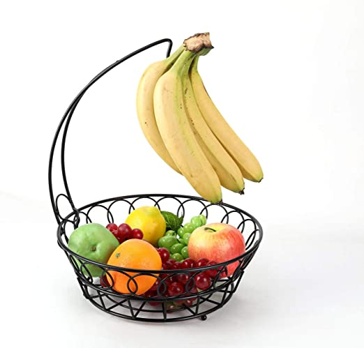 black Fruit Basket Banana holder,