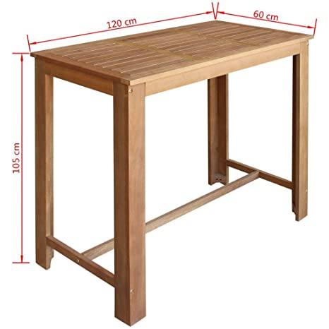 Amazon.com - K&A company Bar Table and Stool Set 5 Pieces ...