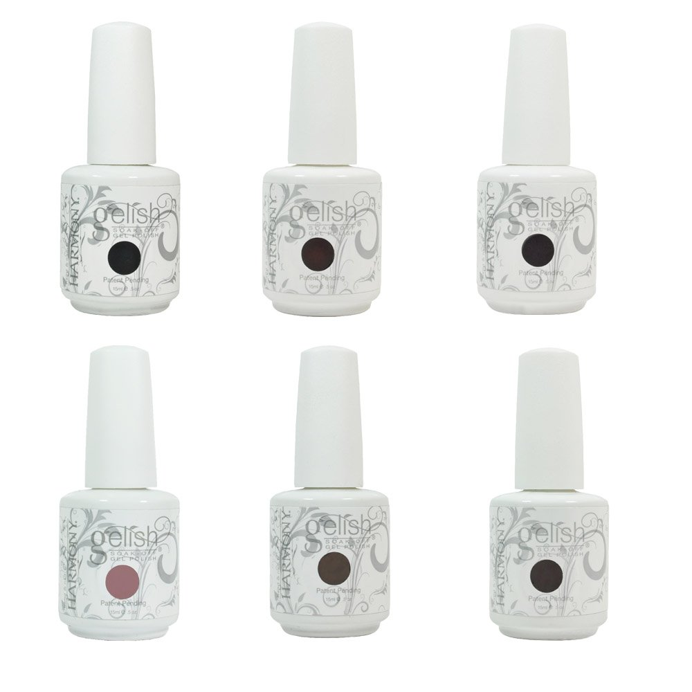 Amazon.com : Set of 6 Harmony Gelish LOVE IN BLOOM Collection Soak ...