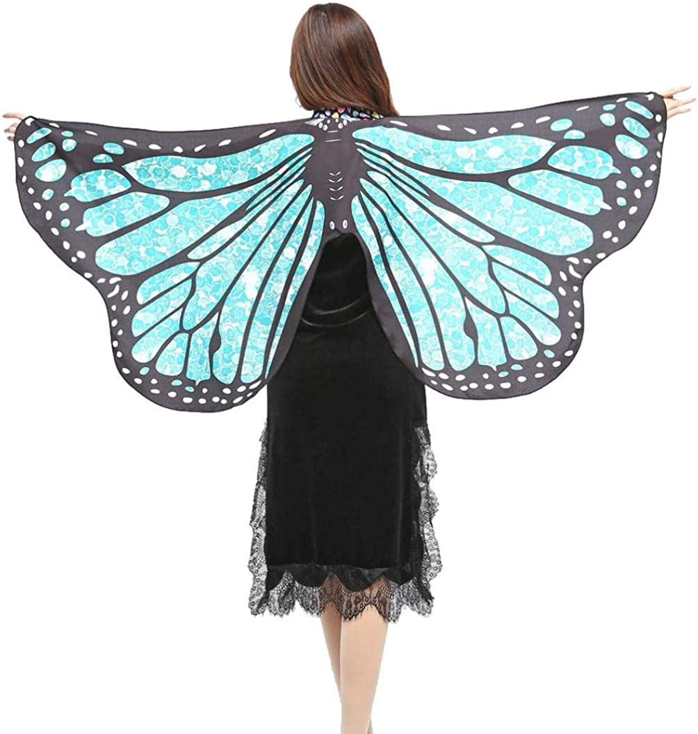 EQUILIBRIUM Embroidered Butterflies Scarf One Size Ladies//Womens//Girls 3 Colours