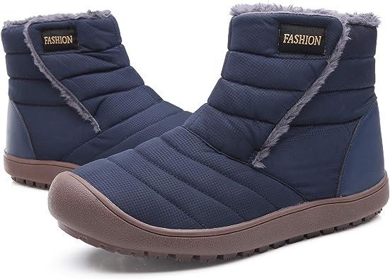 Yasuta Botas de Nieve Hombre Mujer Zapatos de Invierno Botines ...