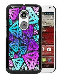 Hot Sale Motorola Moto X 2nd Generation Case ,Purple Diamond Black Motorola Moto X 2nd Generation Cover Case Unique Popular Designed Phone Case