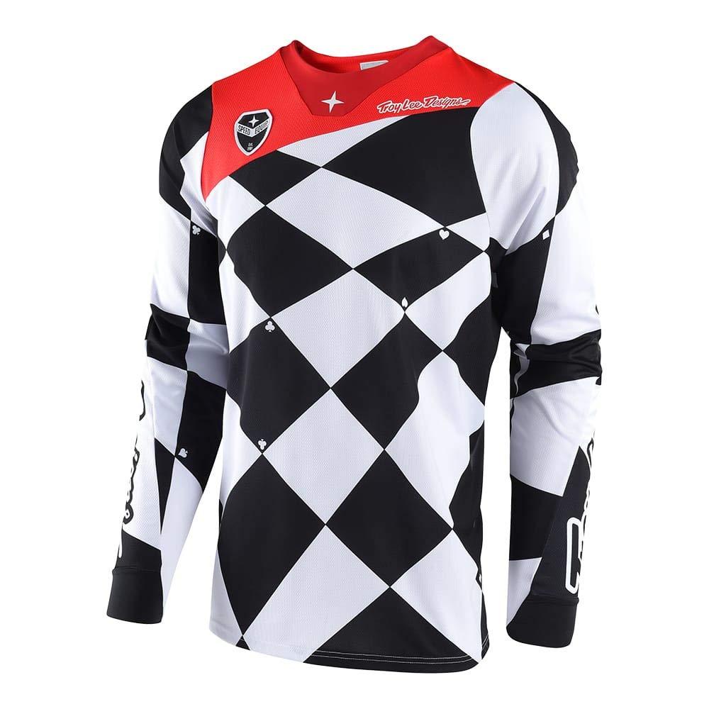 Troy Lee Designs Men's Offroad Motocross Joker SE Jersey (Medium, White/Black) 303488123