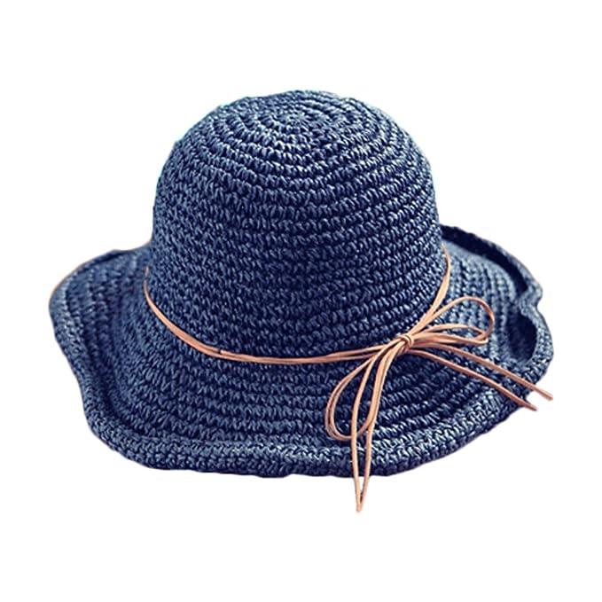 Nikgic Sommer Urlaub Stil Hut Häkeln Strohhut Faltbare Sonnenhut