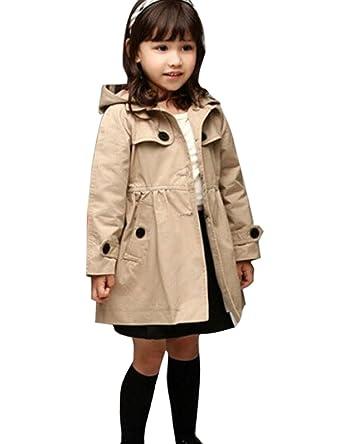 ce88dd36a351 Chinatera Bébé fille Enfant Manteau Jacket Cape Trench Coat Outerwear pour  l Hiver (100