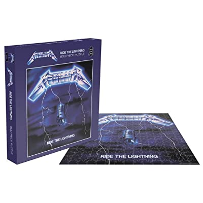 Metallica Ride The Lightning 500 Piece Jigsaw Puzzle: Toys & Games
