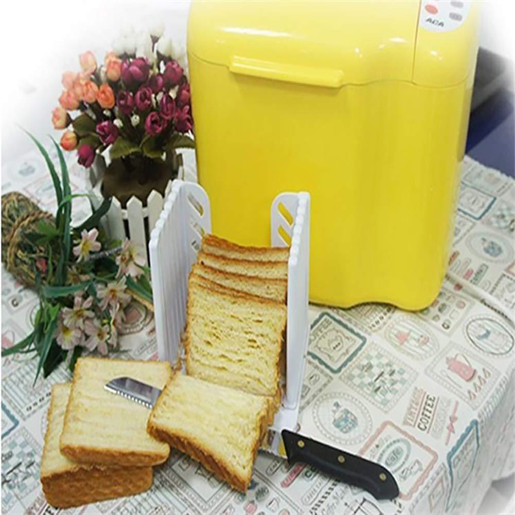 1pc Hornear Pan Tostado Cortador máquina de Cortar Desmontable de Almacenamiento Compacto DIY (Blanco)