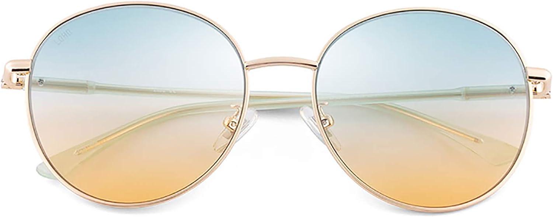 AHAQ Gafas de Sol de Moda, polarizador Neutro, protección UV, Adecuado para Conducir, Pescar, Esquiar,Oro