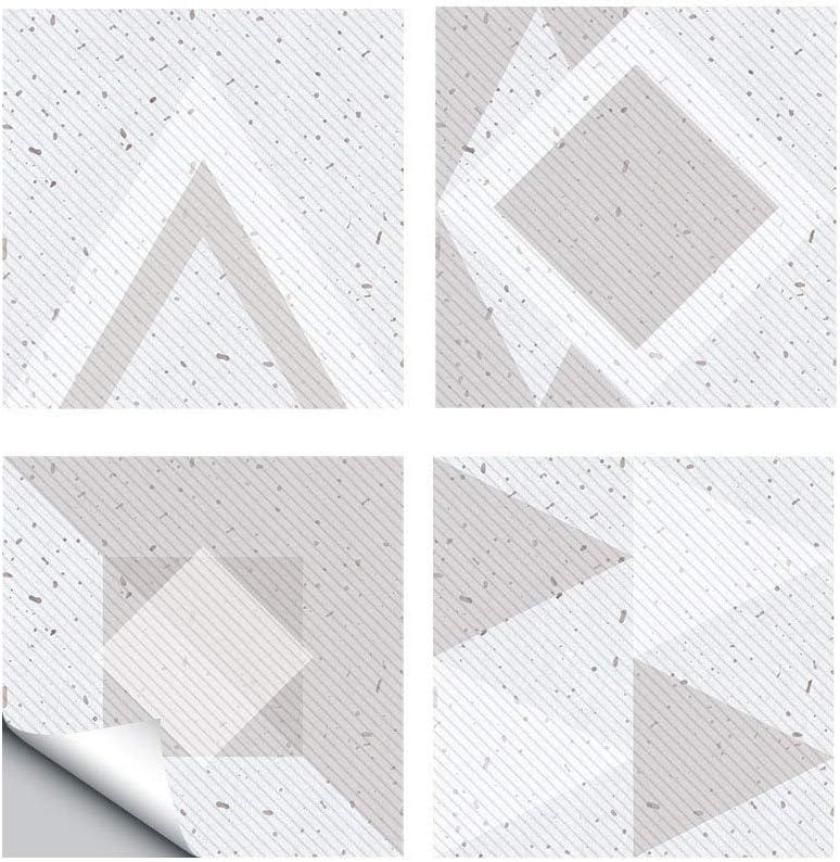 TYV Pegatinas de Pared Piedra de Molino de Agua triángulo geométrico triángulo Autoadhesivo-Pared Pasta, Pasta de Suelo Resistente al Desgaste de Naturaleza de PVC - 30 x 30cm x 4pcs