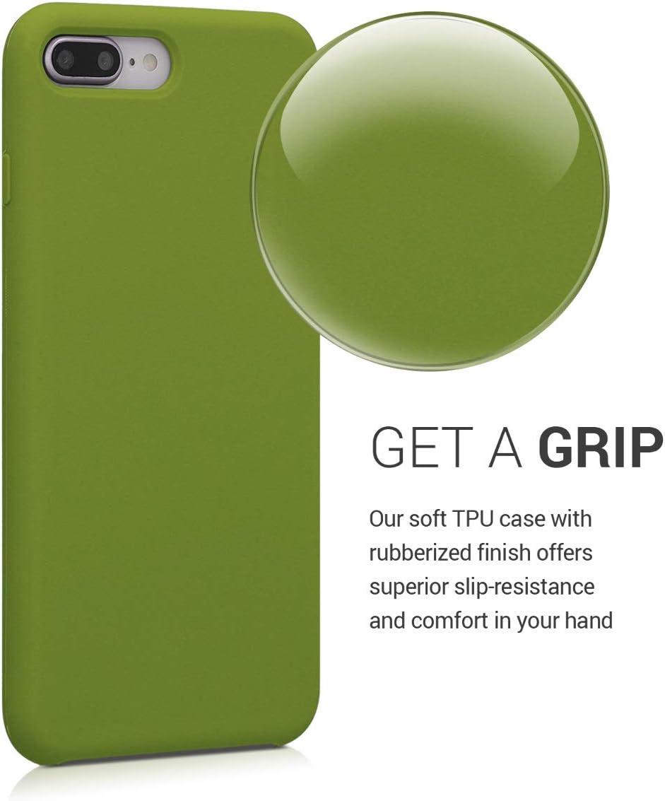 Cover Trasero en Verde cocodrilo 8 Plus Carcasa de TPU para m/óvil kwmobile Funda Compatible con Apple iPhone 7 Plus