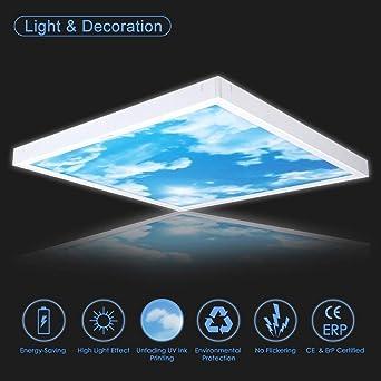 Awenia 36W LED Deckenleuchte Dimmbar 60x60 Panel Lampe KaltWeiß 6500K  Flimmerfrei Deckenlampe 3000lm Wandlampe Für Schlafzimmer