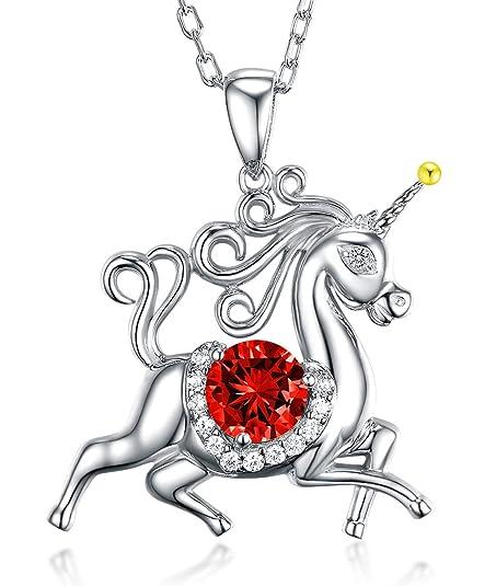 Regali Di Natale Swarovski.Unicorn Granato Swarovski Gioielli Regali Per Donne Pietra Di