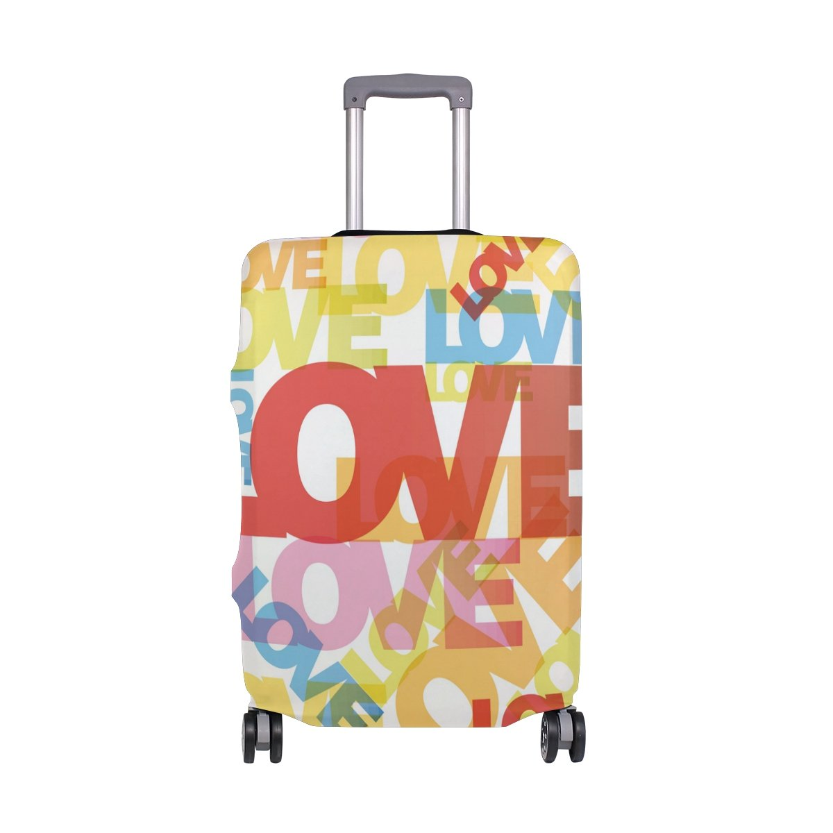 Cute Love Heart Valentines Day Birthday Suitcase Luggage Cover Protector for Travel Kids Men Women