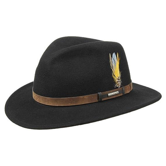 Stetson Sardis VitaFelt Traveller Hat hats leather band  Amazon.co ... eff3f38e431