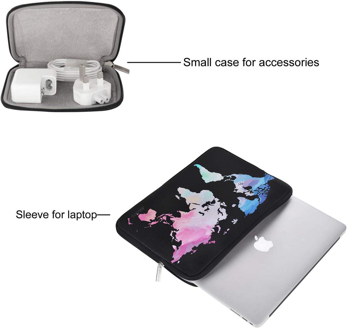Idrorepellente Neoprene World Map Bag con Small Case 13 MacBook PRO A2251 A2289 A2159 A1989 A1706 A1708 MOSISO Laptop Sleeve Compatibile con 2018-2020 MacBook Air 13 Pollici A2179 A1932