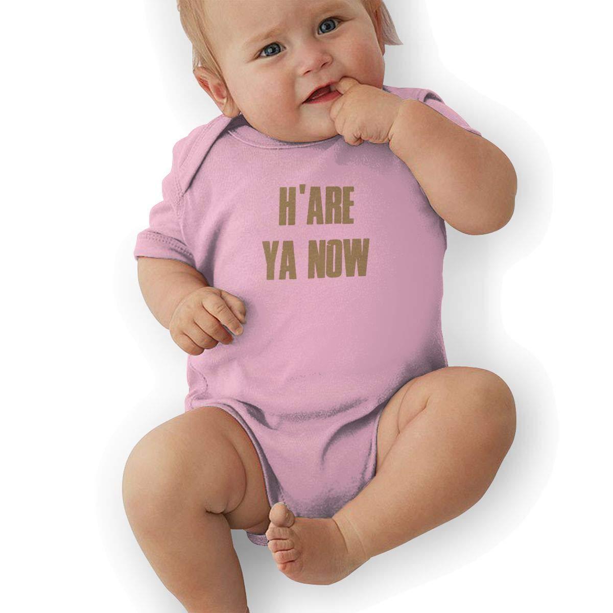 Hare Ya Now Graphic Newborn Baby Short Sleeve Bodysuit Romper Infant Summer Clothing