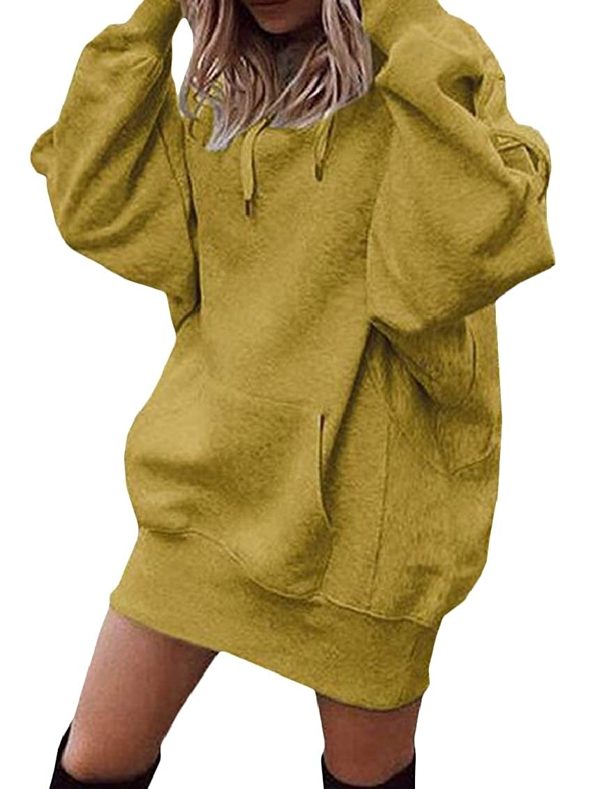 Wopop Womens Pullover Hoodies Pocket Casual Thick Sweatshirts