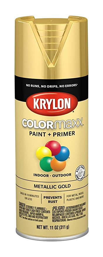 Krylon K05588007 Colormaxx Spray Paint Aerosol Gold