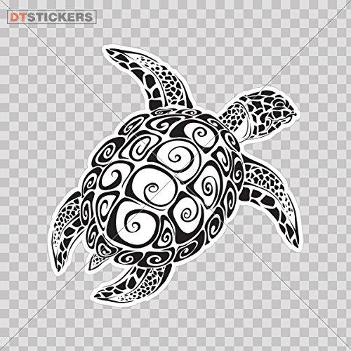 Vinyl Sticker Decal Sea Turtles Tattoo Design Atv Car Garage bike maori draw pacific hawaiian (2 X 1,94 Inches) Fully Waterproof Printed vinyl sticker
