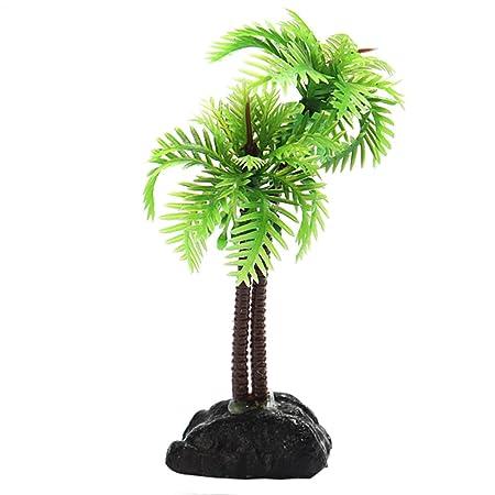 Wicemoon - Árbol de coco para acuario, fondo negro, pecera, hierba artificial, decoración de acuario, decoración de hierbas de agua: Amazon.es: Productos ...