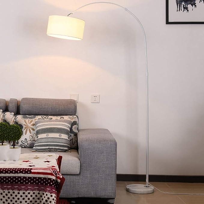 MILUCE Lámpara de pie arqueada para mesa de comedor Modern
