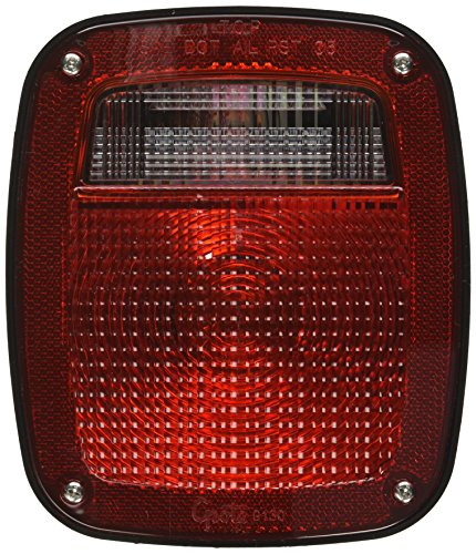 Grote 52832 Torsion Mount Two-Stud Stop Tail Turn Light (w/ Side Marker & Molded Pigtail Termination, w/ License Window, LH) (Torsion Stop)