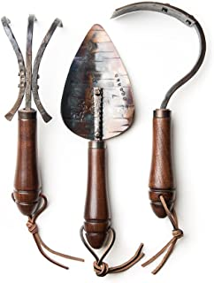 product image for Spring Gardening Tool Gift Set, Set of Three, Hand Forged by Fisher Blacksmithing