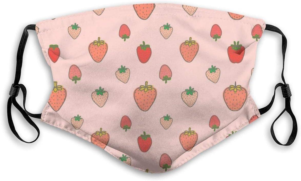 Strawberry Fashion - Protector bucal con Filtro, Unisex, Antipolvo, Protector bucal Lavable y Reutilizable, tamaño S