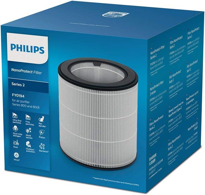 Philips FY0194/30 Fitro Humidificación Higiénica, Apto para Humidificador Hu4803/01, Plata: Amazon.es: Bricolaje y herramientas