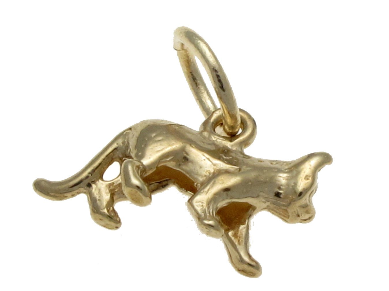 Handmade by Welded Bliss 9ct Solid Gold Small Walking Cat Charm