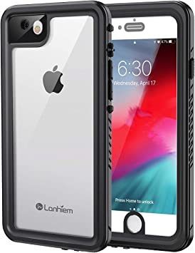 Lanhiem Funda Impermeable iPhone SE 2020 7/8, Carcasa Sumergible ...