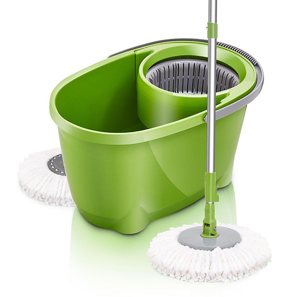 モップ完全洗浄システムモップヘッド+ 360°回転モップバケット時間と労力を節約ロータリーモップ B07FMPQF3T