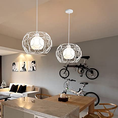 Retro Lámpara colgante Design Anillo Circular Creux 1 llama ...