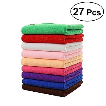 WINOMO microfibra limpieza toallas de lavado de coches grueso polaca toallas 27PCS: Amazon.es: Coche y moto