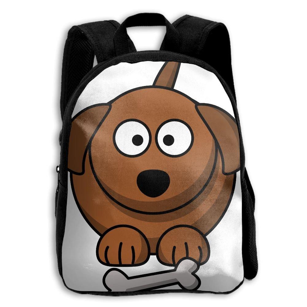 fidaljf漫画犬とボーン子供の3dプリントファスナー付き旅行バッグ学校バックパック B07DVFN9FT