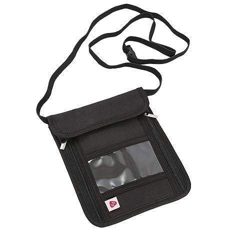 Portadocumentos de Cuello Bolsa de viaje con Bloqueo de RFID ...