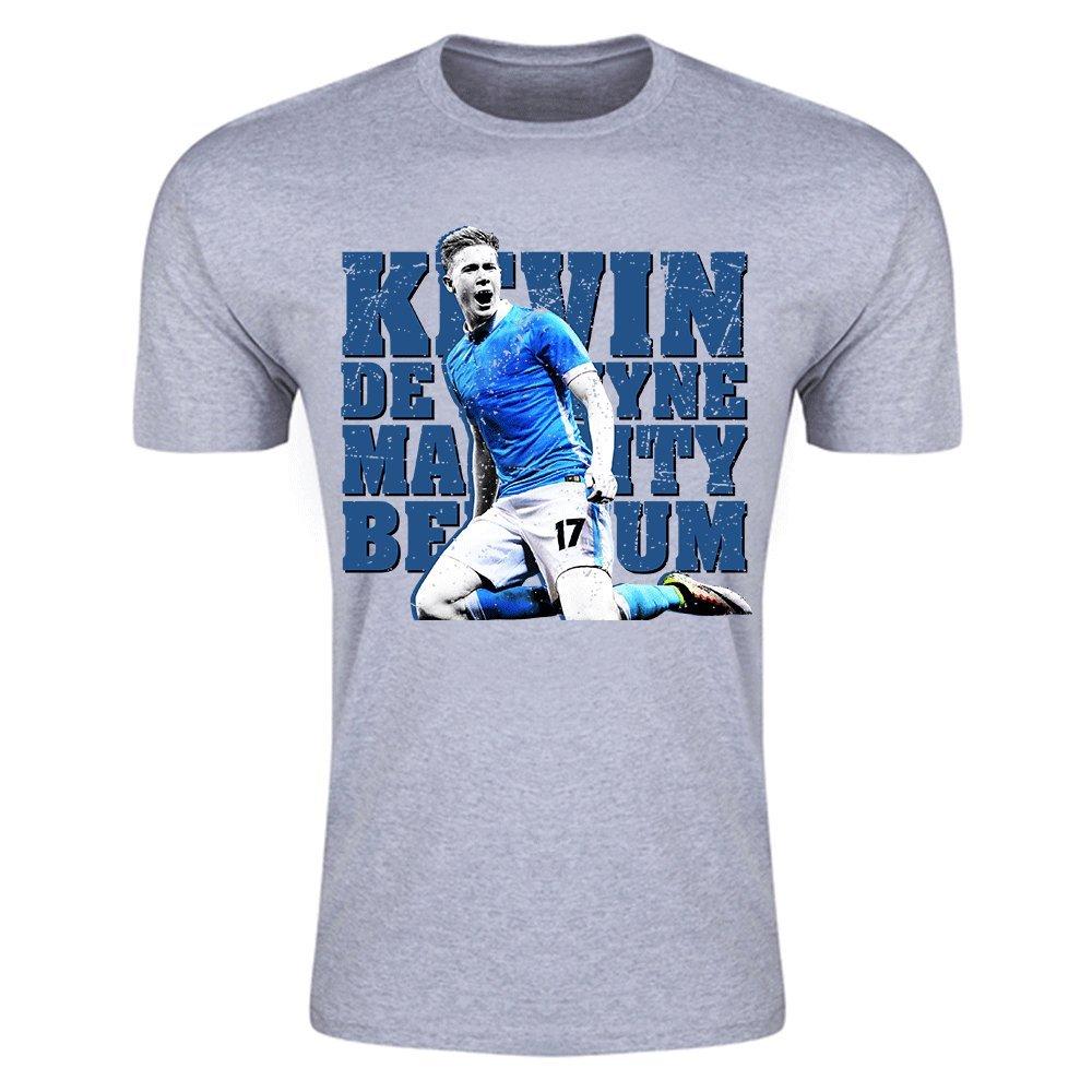 8f8e93e10e366 UKSoccershop Kevin De Bruyne Man City T-Shirt (Grey) - Kids