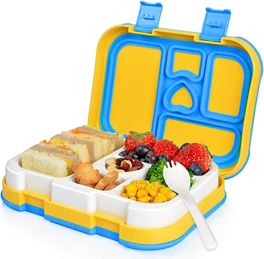Acokki Fiambrera Bento para Infantil, Lunchbox con 5 ...