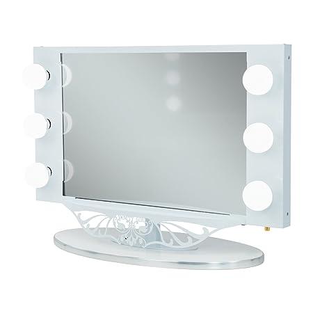 Vanity Girl Hollywood Starlet Lighted Vanity Mirror White Amazon