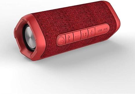 Qiyan Altavoz Bluetooth Altavoz portátil Impermeable al Aire Libre 12 w Caja de Sonido Columna de música Altavoz inalámbrico Subwoofer Estéreo bajo en HD Altavoces portátiles Rojo: Amazon.es: Electrónica