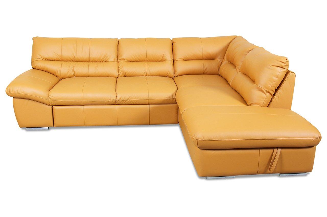 sofa cotta megaecke william inkl bett echt leder creme g nstig. Black Bedroom Furniture Sets. Home Design Ideas