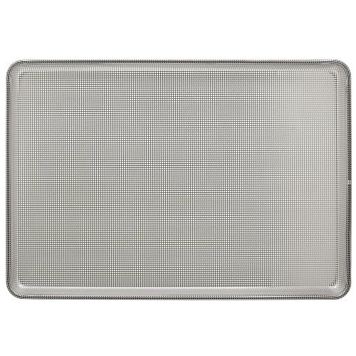 HUBERT Glaze Coated Aluminum Perforated Bun Pan Sheet Ban 16 Gauge - 26