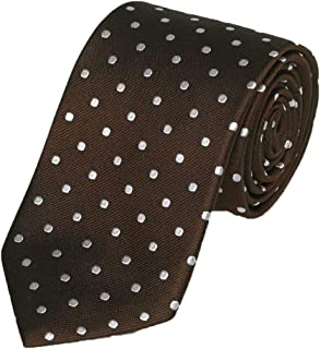 product image for Gitman Bros Brown with Woven White Dots Tie