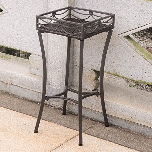 International CaravanInternational Caravan Valencia Resin Wicker/Steel Square Plant Stand